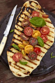Heirloom Tomato Pizza On The Grill