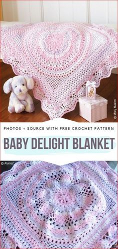 Baby Delight Blanket Free Crochet Pattern Bring some romatic vibes with this doily-like beauty. braid styles for kids free pattern Crochet Baby Blankets Free Patterns Crochet Baby Blanket Free Pattern, Crochet Afghans, Crochet Baby Shawl, Crochet Jacket, Baby Blankets To Crochet, Crochet Baby Girls, Crochet Baby Stuff, Crochet Baby Clothes, Crochet Gratis