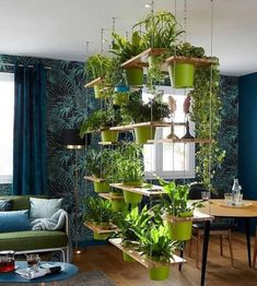 Colourful bohemian style home decor ideas for creative exрrеѕѕіоn 3 Related Fabric Room Dividers, Diy Room Divider, Home Design, Wall Design, Indoor Garden, Indoor Plants, Bohemian Style Home, One Room Apartment, Studio Apartment