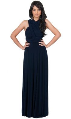 Koh Koh Women's Convertible Wrap Maxi Dress - Large - Navy Blue Koh Koh http://www.amazon.com/dp/B00DCMPDAK/ref=cm_sw_r_pi_dp_h1MZub1EYWJ0J
