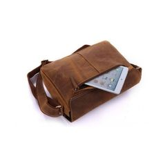 Excellent Genuine Leather Best Selling Messenger Bag TucciPolo (€94) ❤ liked on Polyvore featuring bags, messenger bags, genuine leather bag, leather laptop bag, leather bags, genuine leather messenger bag and real leather bags