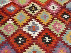 "Nomadic Turkish Kilim Rug Carpet circa 1950 - 137"" x 68"" (349 x 174 CM)"