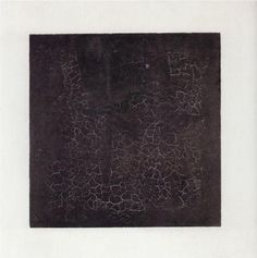 """Black square, Malevich 1915. One of the most famous paintings in Russian art, Black Square marked the turning point of the Russian avant-garde movement. Before creating this painting, Malevich spent eighteen months in his studio, laboring over thirty non-objective paintings. In the end, he had created a series. His invention of the word """"suprematism"""" was meant to refer to the supremacy of the new geometric forms."""