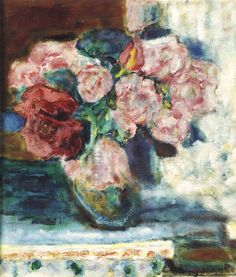 Pierre Bonnard - 1936 vers Bouquet de Roses