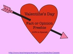 Spanish Fact or Opinion Freebie for Valentine's Day!