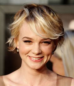 I like this--it would be cute with my curls. carey mulligan small boar head brush flipped crop