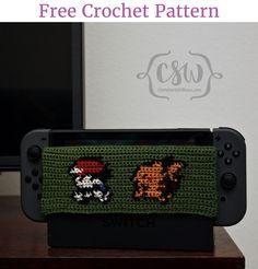 Pokemon/Pikachu Nintendo Switch Dock Cover - free crochet pattern by Colorful Christine