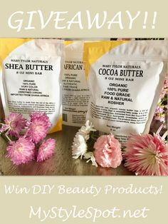 Hey Lovelies, I have some fun products for those of you who are into DIY beauty! Over the years, I've loved and enjoyed making my own lip balms, soap, body lotions, bath  DIY Beauty Giveaway- #contest #win #giveaway #DIY #DIYBEAUTY #beauty #sweeps #DIYsweeps #beautysweeps #cocoabutter #lotion #lipbalm #hair #skincare #antiaging #organic #natural #pure #raw #sheabutter #bebombs, hair products, skin creams, masks, and more! I've got a goodie box full of lots of products great for making your…