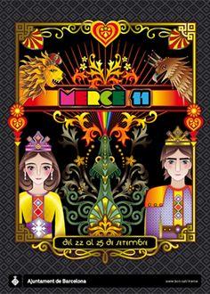 Cartel Fiestas de la Mercé 2011