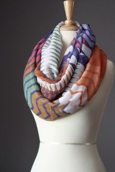 Infinity Scarf light loop tube circle by ScarfObsession on Etsy