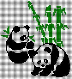 Pandas perler bead pattern