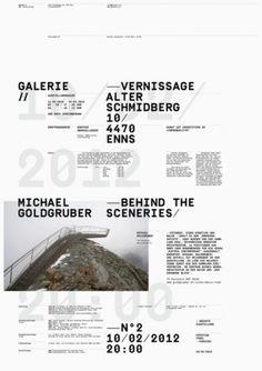 Poster Design: Vernissage Galerie Alter Schmidberg  | typography / graphic design: Wolfgang Ortner |