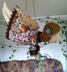Купить Летающий ангел Серафима - коричневый, ангел, текстильная кукла, кукла ручной работы