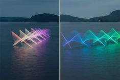 BoredPanda The Motions Of Canoers and Kayakers Revealed With LEDs In Long Exposure Photography