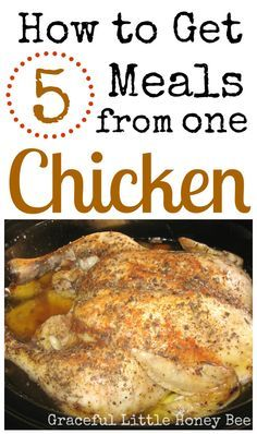 See how I got five meals from one chicken! Make your dollar and chicken stretch in this easy way to us one chicken to feed your family for five meals. #chicken Feeling strong!