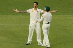 Fast bowler Mitchell Johnson's 9 wickets in the first Ashes Test at Brisbane scripted Australia's big 381-run win against England with a day to spare on November 24, 2013. (Getty Images)