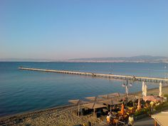Part of the coastline of the southeastern suburb of Peraia in Thermaikos, with views towards Thessaloniki.