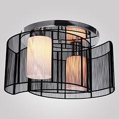 Max 40W Moderno / Contemporáneo Mini Estilo Galvanizado Lámparas Araña / Montage de Flujo Sala de estar / Comedor / Hall 2016 – €94.07