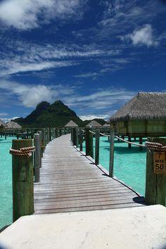 The Bora Bora Boardwalk Photograph by Owen Ashurst - The Bora Bora Boardwalk Fine Art Prints and Posters for Sale