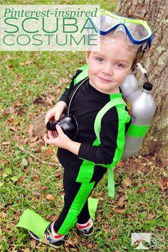 Pinterest Inspired   DIY Costume: SCUBA Diver