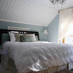 This is the treatment we are doing in our bedroom on the ceiling. I like the paint color too.