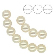 5810 Round Pearl 10mm White Pearl  Dimensions: 10,0mm Colour: Crystal White Pearl 1 package = 1 piece