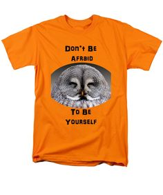 Be #Yourself #TShirt by Judi Saunders with cute #owl and #positive #affirmation.