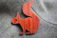 Stylish Woodland Red Squirrel Brooch by FireTheLaser on Etsy, £14.00