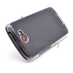 Click Image to Browse: $9.95 Black Aluminum Brush Hard Case Snap On Cover For HTC One S
