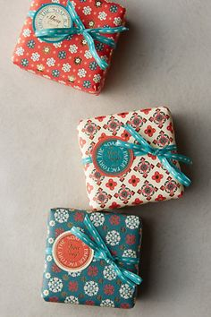 Winter Blossom Bar Soap from Anthropologie, These would make great holiday hostess gifts!