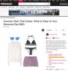 Thinking about summer style? Take a look at our Ania bikini featured new in online press http://www.fabsugar.com/What-Wear-Barbecue-23575899?slide=2_nid=2357731