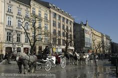 Carriages in Krakow, Poland