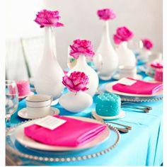 Tiffany blue n Fuscia <3