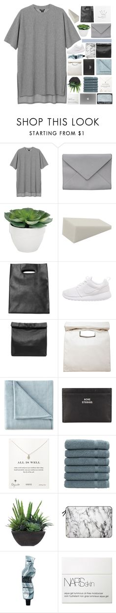 """""""V E R O N I C A // TAGLIST"""" by cashmer-e ❤ liked on Polyvore featuring Monki, Ann Demeulemeester, Torre & Tagus, NIKE, Marie Turnor, Limi Feu, JCPenney Home, Acne Studios, Dogeared and Linum Home Textiles"""