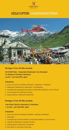 Book Helicopter Chardham Yatra with Leisure Hotels
