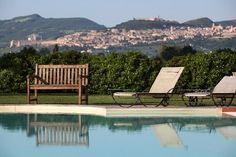 The gorgeous view of Assisi, from the Resort's pool