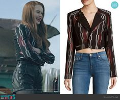 Bcbgmaxazria Nathan Jacket worn by Cheryl Blossom (Madelaine Petsch) on Riverdale Cute Emo Outfits, Tumblr Outfits, Edgy Outfits, Girl Outfits, Fashion Sites, Fashion Tv, Fashion Outfits, Rock Fashion, Cheryl Blossom Riverdale