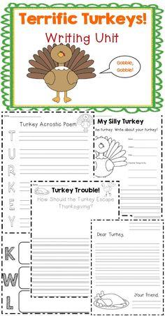 Turkey writing activities! $