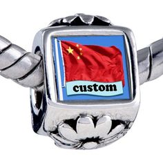 Pugster Bead Chinese Flag Custom Holiday European Charm Bead Winter Sale Jewelry Fits Pandora Bracelet Pugster. $15.99. Weight (gram): 4.80. Metal: base metal. Size (mm): 7.60*8.70*9.90. Note: Snake chain is not included. Bead Size (mm): 7.60*8.70*9.90