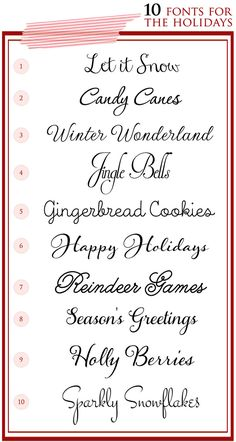 10 Script Fonts for the Holidays and Winter Wedding Season