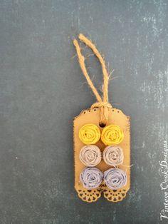 Golden Rosettes, Slate Grey studs, Rosette Flower Earring 6pc. Set, Flower Earrings