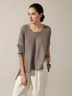 Boxy Wool Dolman Sweater by Eileen Fisher on Gilt.com