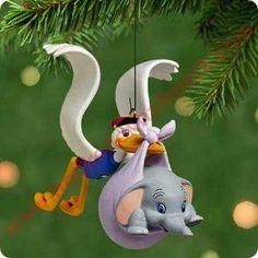 2001 Disney - Hello Dumbo Hallmark Christmas Ornament, Mint in Box - In Stock! - The Ornament Shop. Hallmark Disney Ornaments, Hallmark Christmas Ornaments, Peanuts Christmas, Christmas Tree Decorations, Disney Decorations, Xmas, Dumbo Baby Shower, Baby Dumbo, Baby Mine