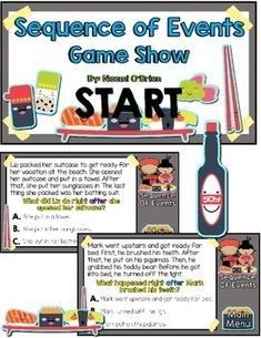 This fun and sushi themed game will help you get your students excited about practicing sequence of events. Encourage your students to use the transition words to help them find the correct answer. I also have my students list what happened in order and make sure their answer makes sense!