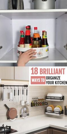 Kitchen Organization Pantry, Small Space Organization, Diy Kitchen Storage, Diy Organization, Kitchen Organizers, Kitchen Tips, Organizing Ideas For Kitchen, Kitchen Without Pantry, Organization Ideas For The Home