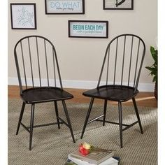 Shop for Simple Living Milo Mixed Media Dining Chairs (Set of 2). Get free shipping at Overstock.com - Your Online Furniture Outlet Store! Get 5% in rewards with Club O! - 16428565