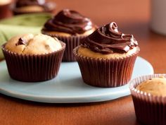 Peanut Butter Chocolate Chip Cupcakes with Chocolate Icing