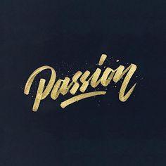 "433 Me gusta, 5 comentarios - Edvinas Binderis (@ebde_sign) en Instagram: ""#passion brushpen lettering"""