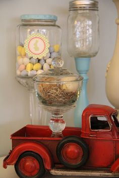 "pickle jars and mason jars become ""apothecary"" jars!"