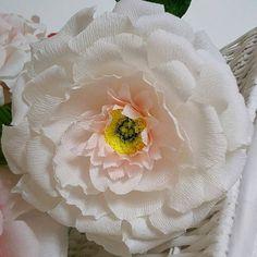 Wedding paper flower, Big paper flower, flower Bridesmaids, Pink paper peony…